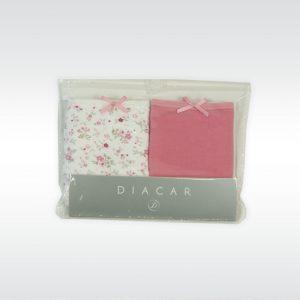 Pack 2 Braga Bikini Niña Algodón DIACAR Ref. 376