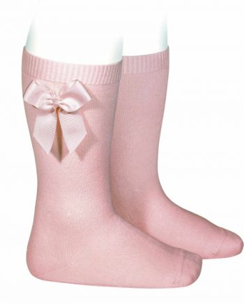 calcetines condor de fantasía rosa con lazo