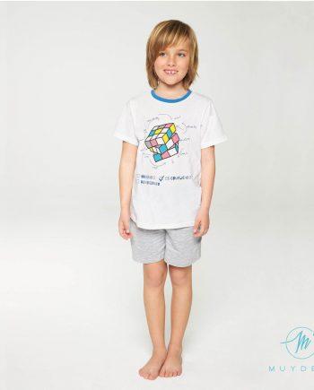 pijama de niño con cubo de Rubik